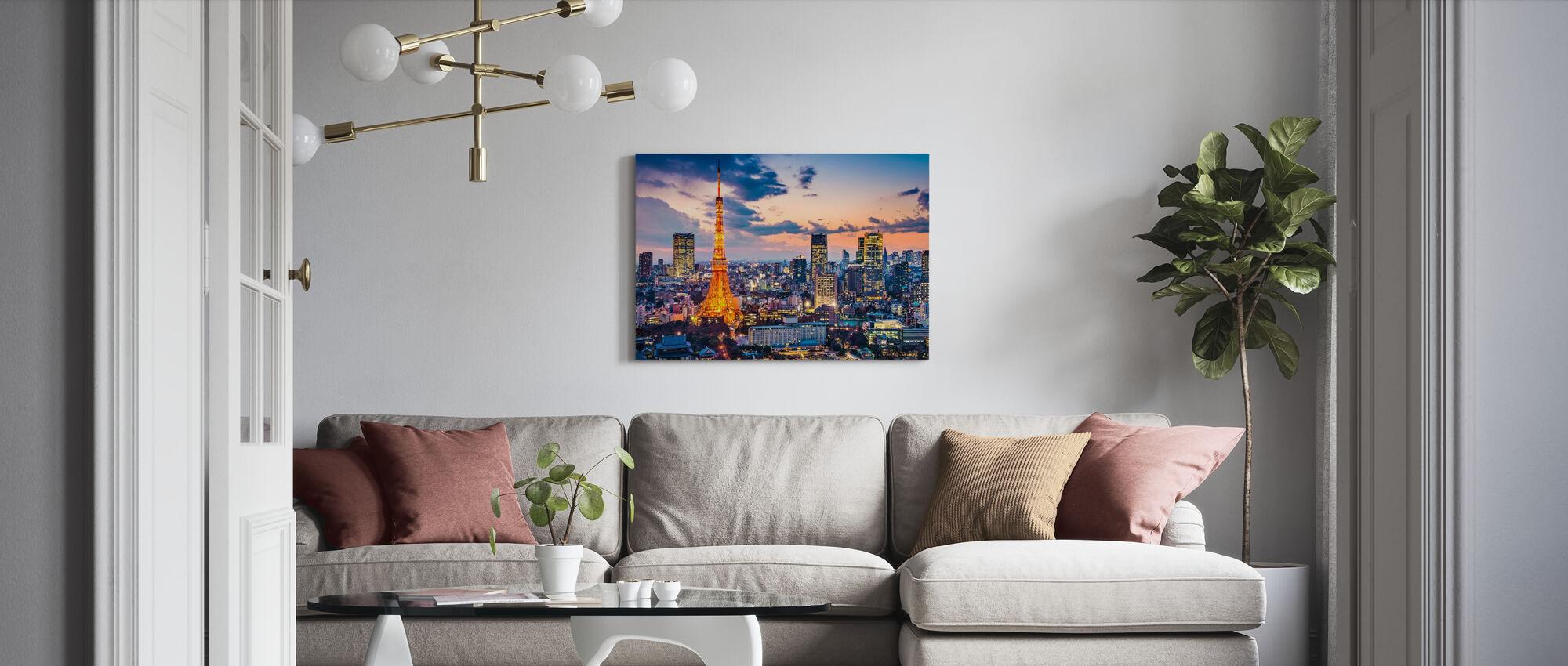Tokyo Lights - Canvas print - Living Room