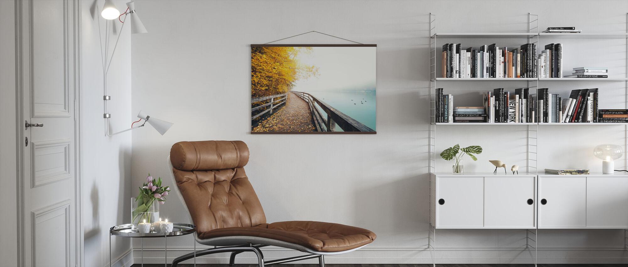 Path Along the Lake - Poster - Living Room