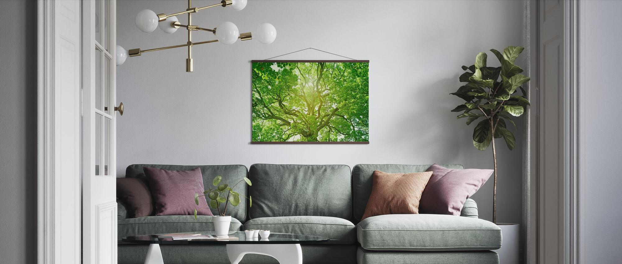 Fersk grønt tre - Plakat - Stue