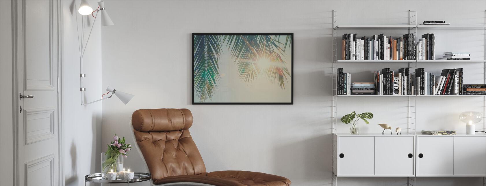 Palm Leaves Sunset - Poster - Living Room