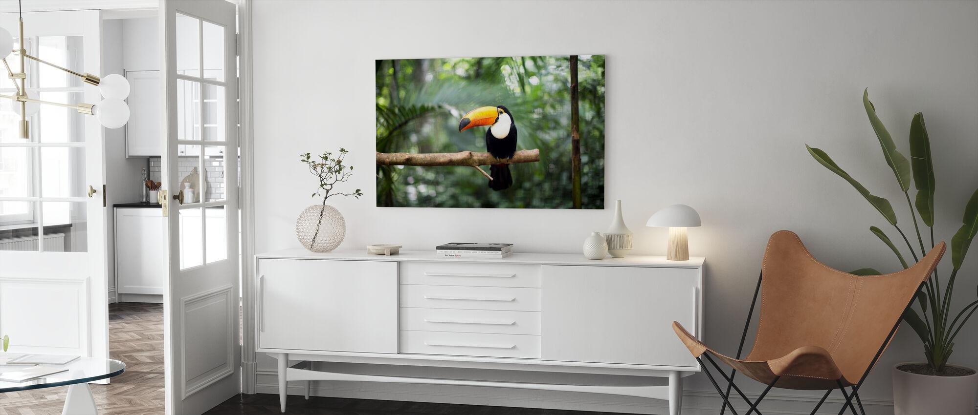 Tukan auf dem Zweig - Leinwandbild - Wohnzimmer