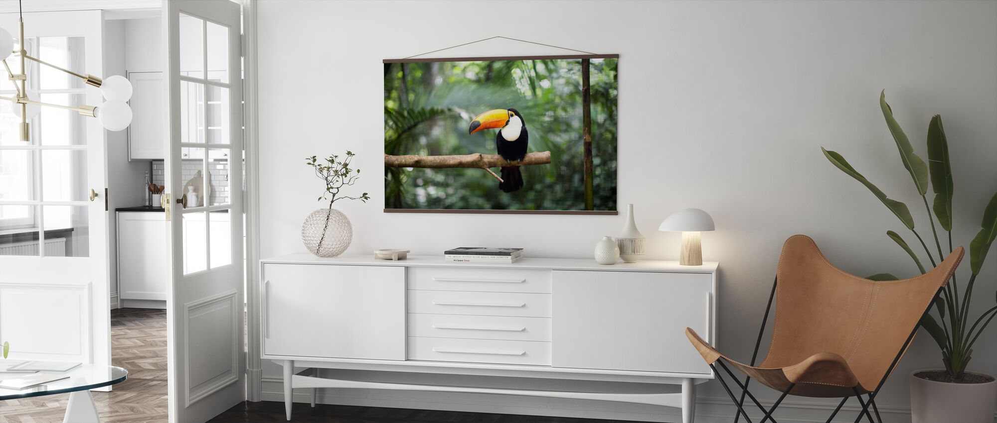 Toucan on the branch - Poster - Living Room