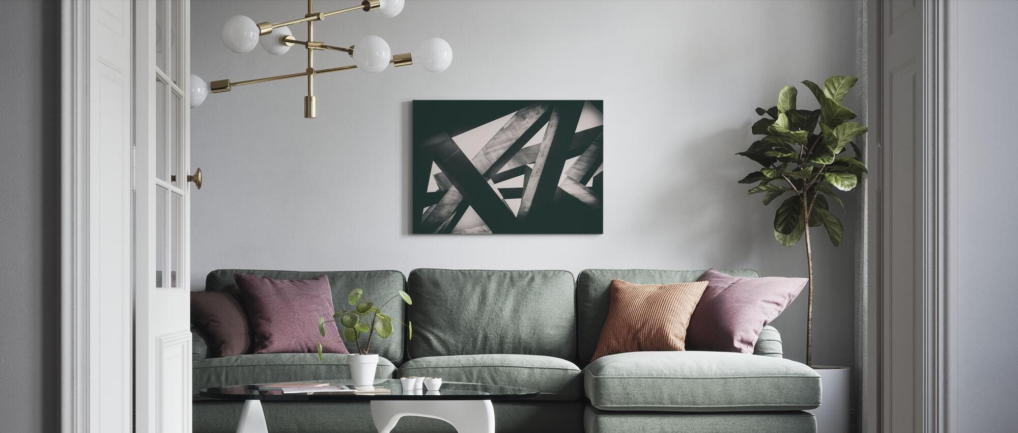 Concrete Pillars - Canvas print - Living Room