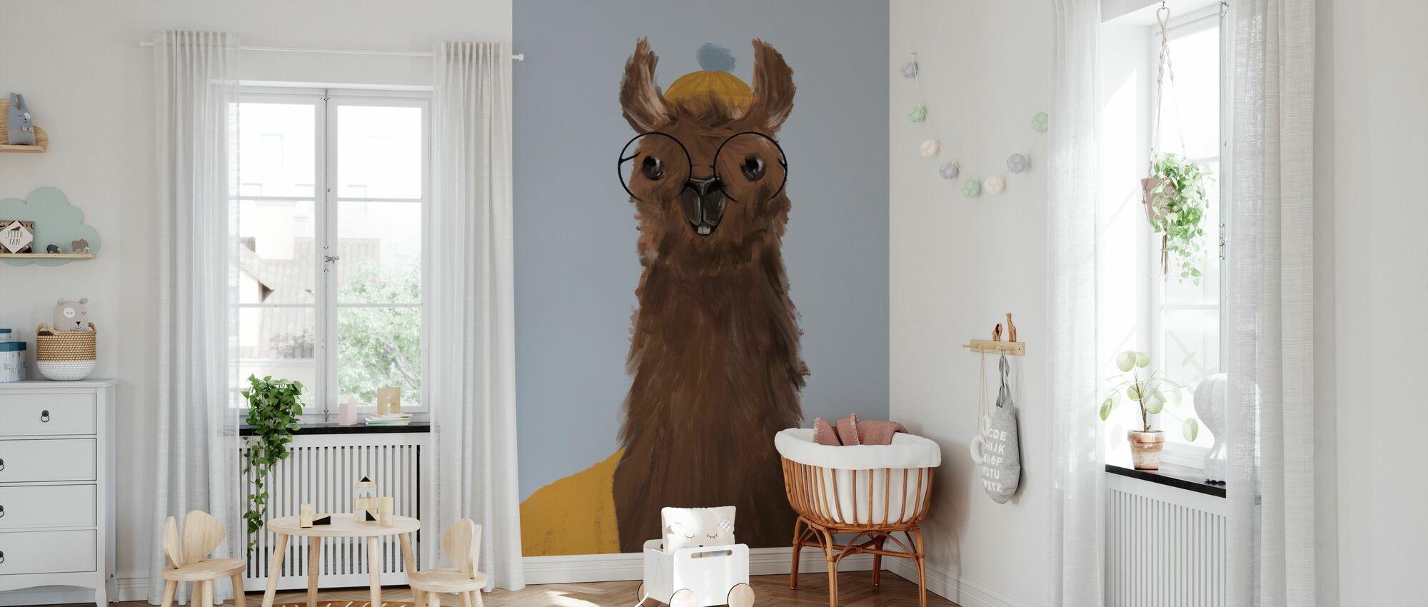 Förtjusande Alpacas III - Tapet - Babyrum