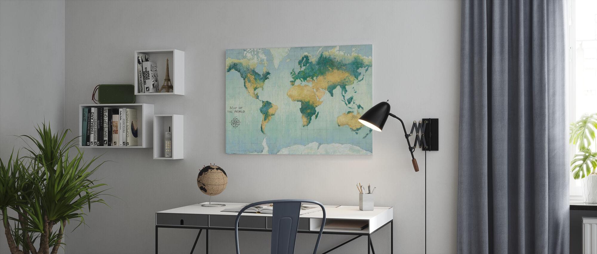 Golden Earth - Canvas print - Office