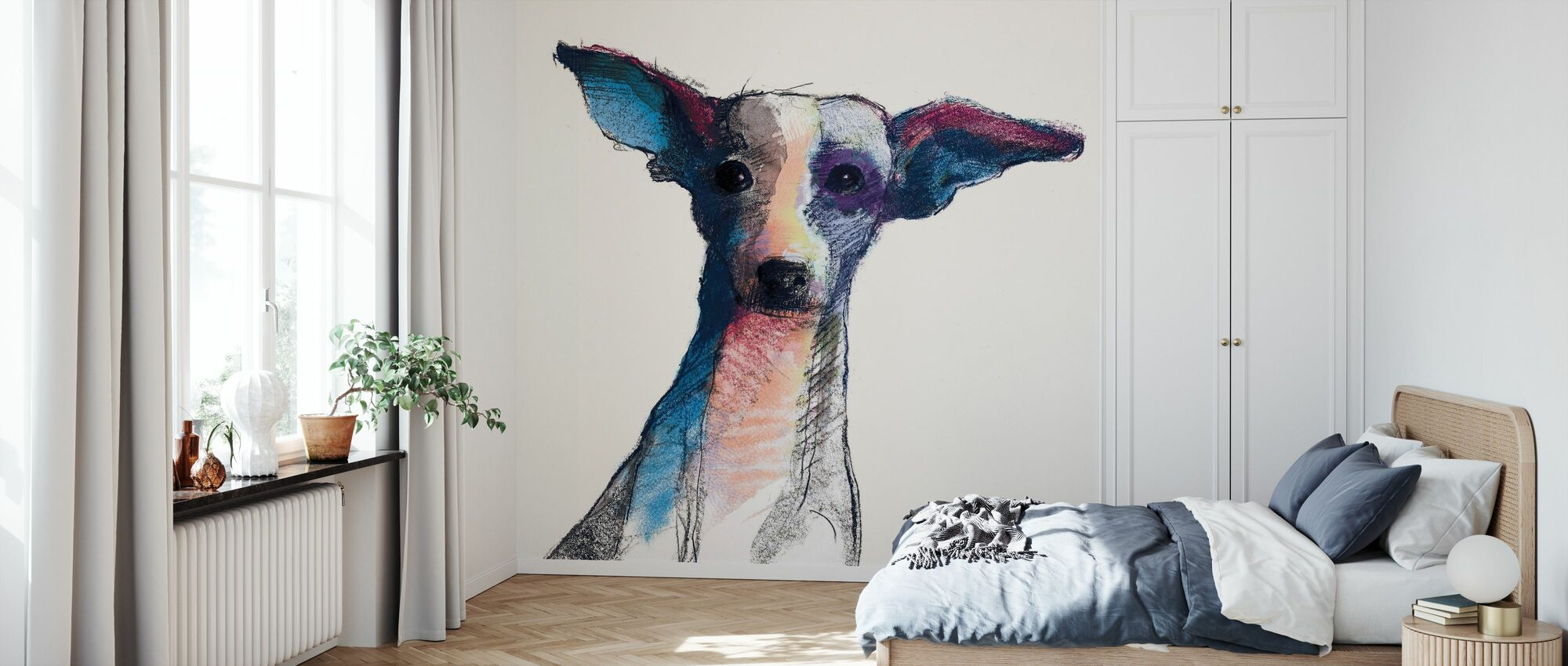 Thor Aquarell Pastell - Tapete - Schlafzimmer