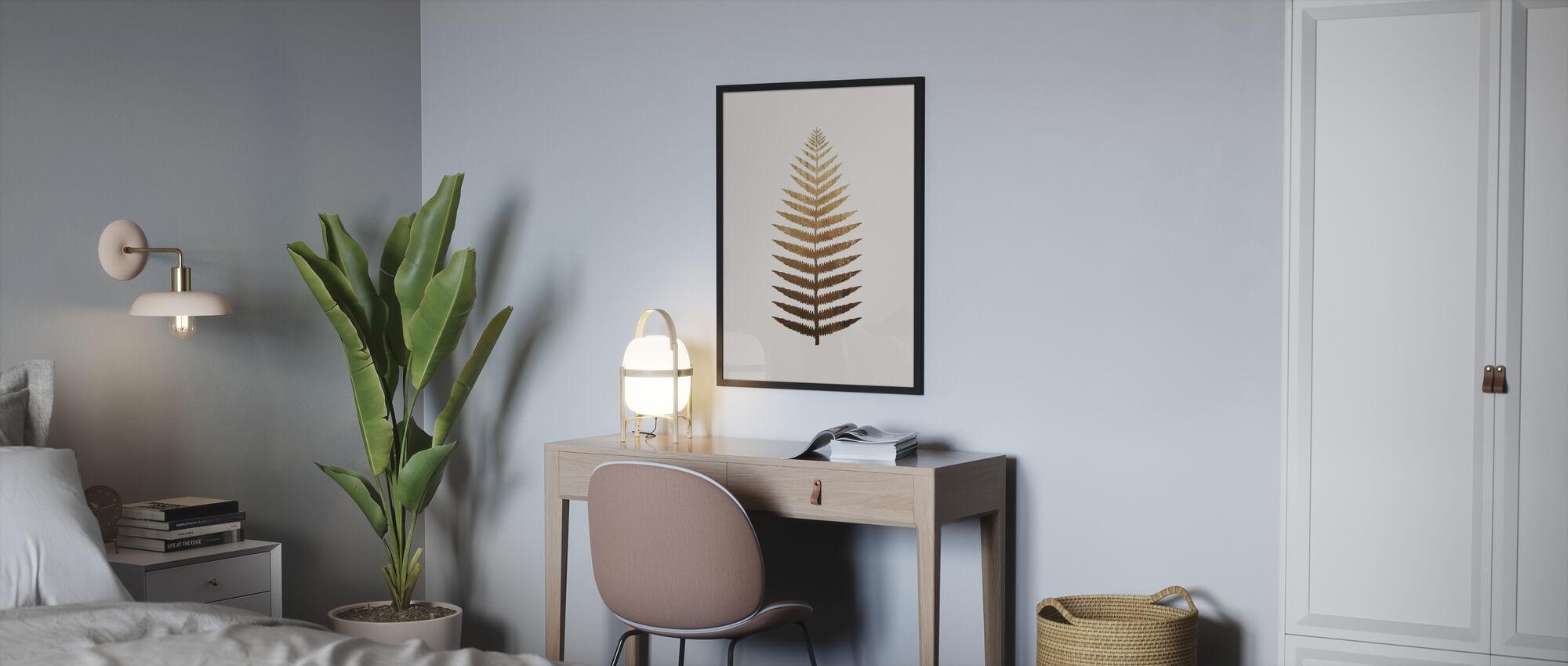 Goldenes Blatt Nr. 7 - Poster - Schlafzimmer