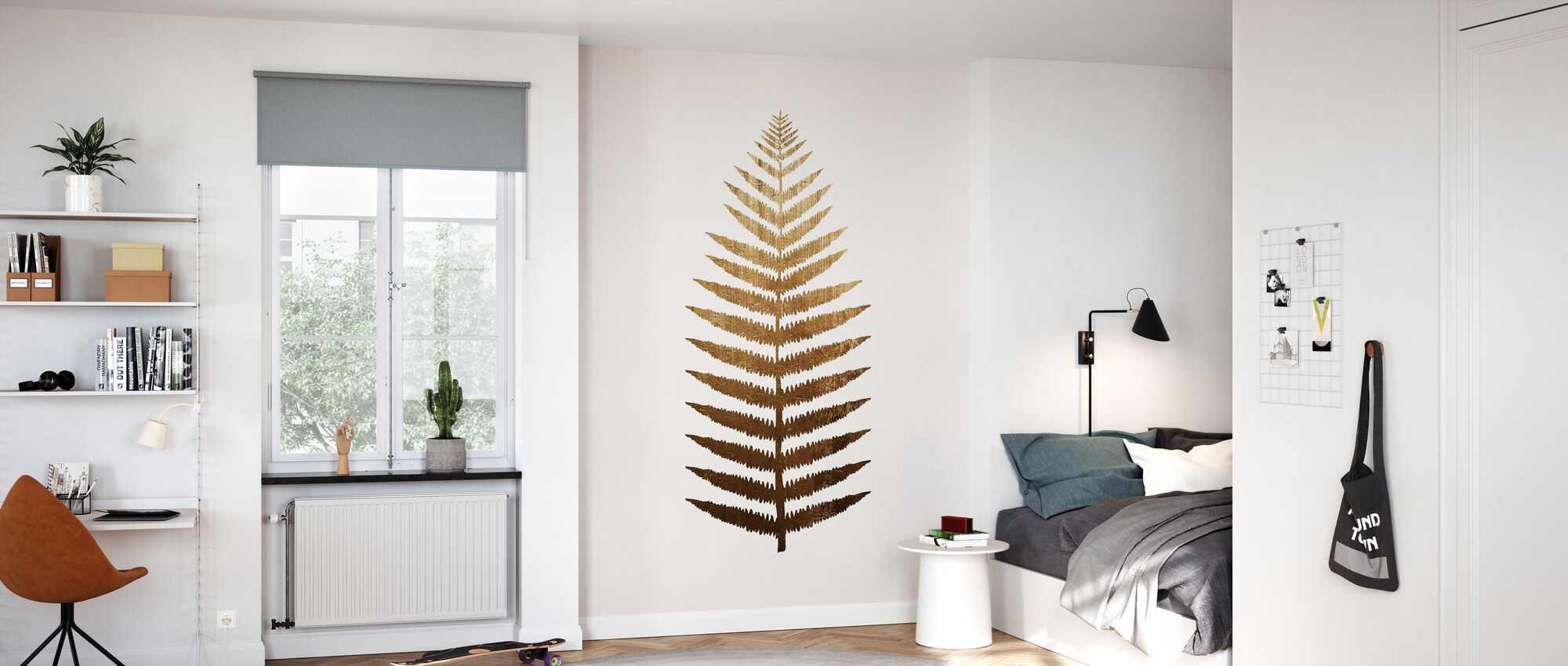 Golden Leaf No 7 - Wallpaper - Kids Room