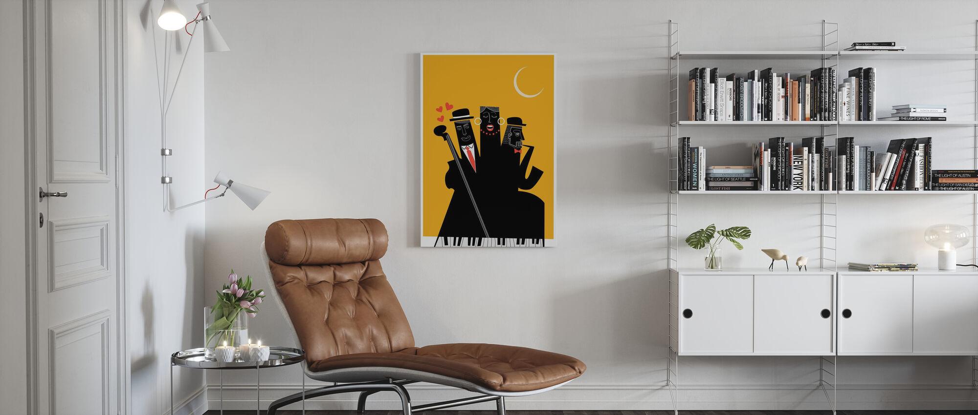 Jazzy Nights - Canvas print - Living Room