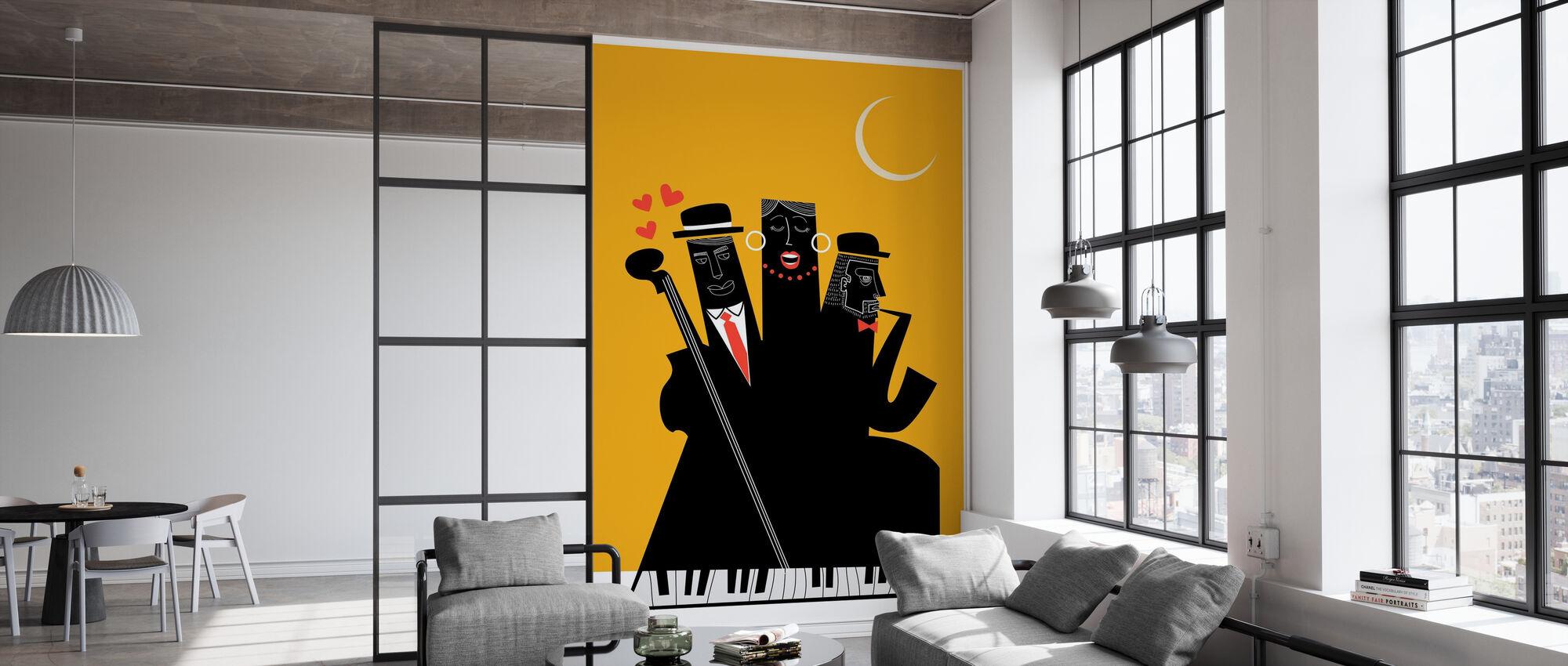 Jazzy Nights - Wallpaper - Office