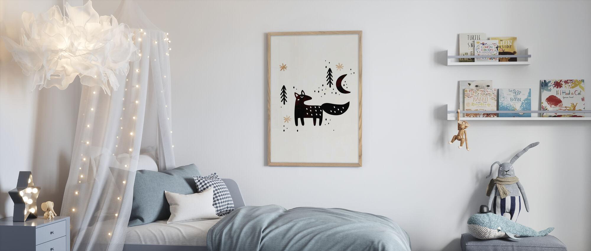 Little Winter Fox - Poster - Kids Room