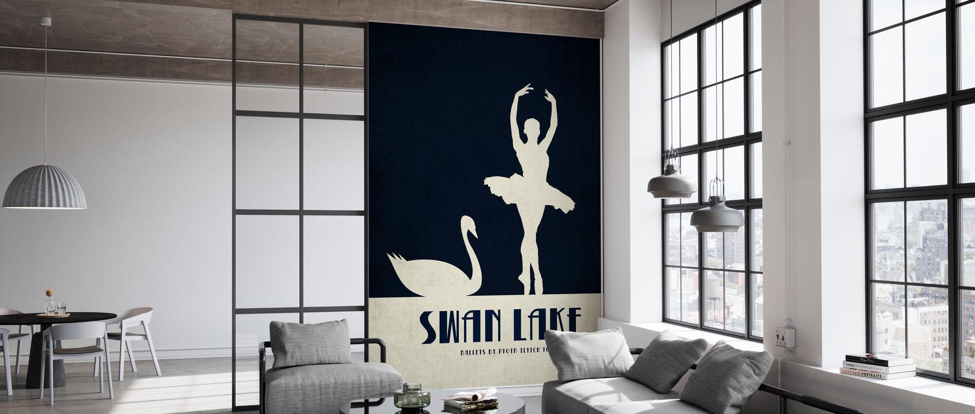 Swan Lake - Wallpaper - Office