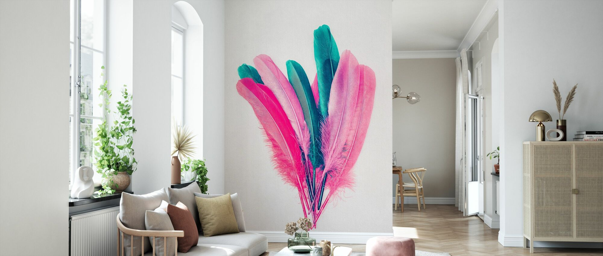 Feather Bouquet - Wallpaper - Living Room