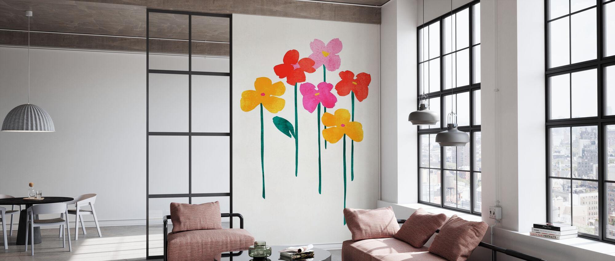 Lite Lykkelige Blomster - Tapet - Kontor