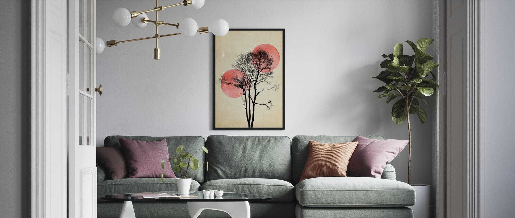Zon en Maan Verbergen - Poster - Woonkamer