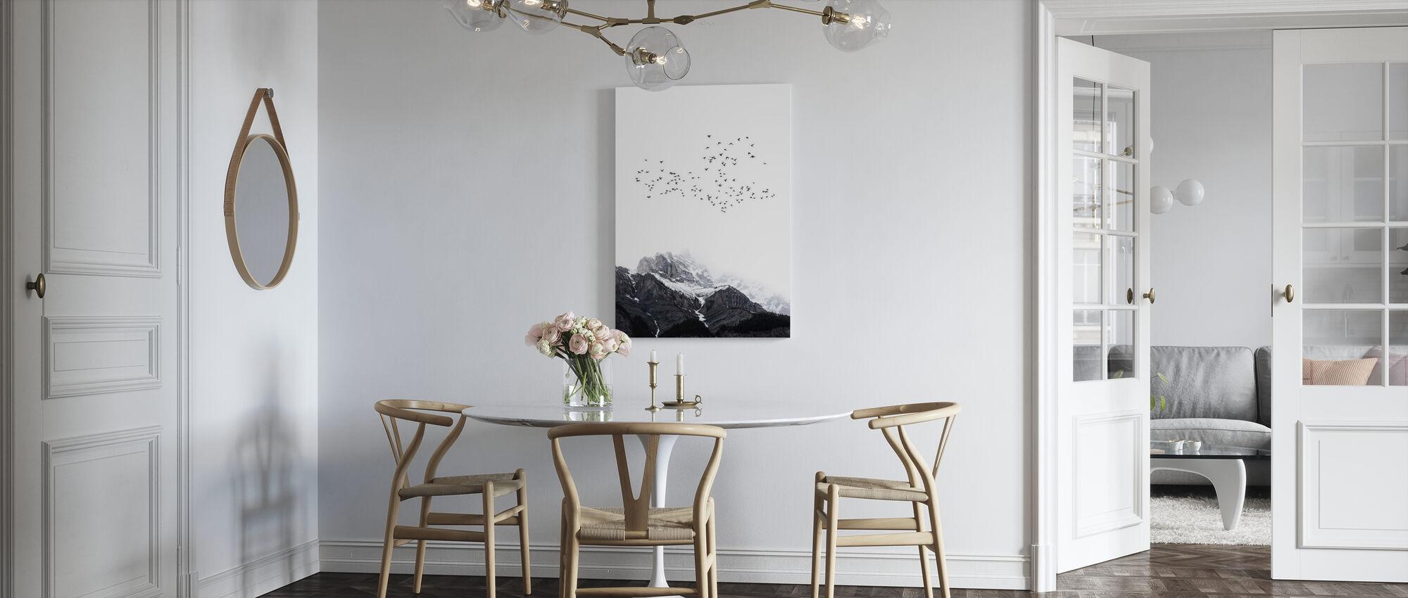 Top van de wereld - Canvas print - Keuken