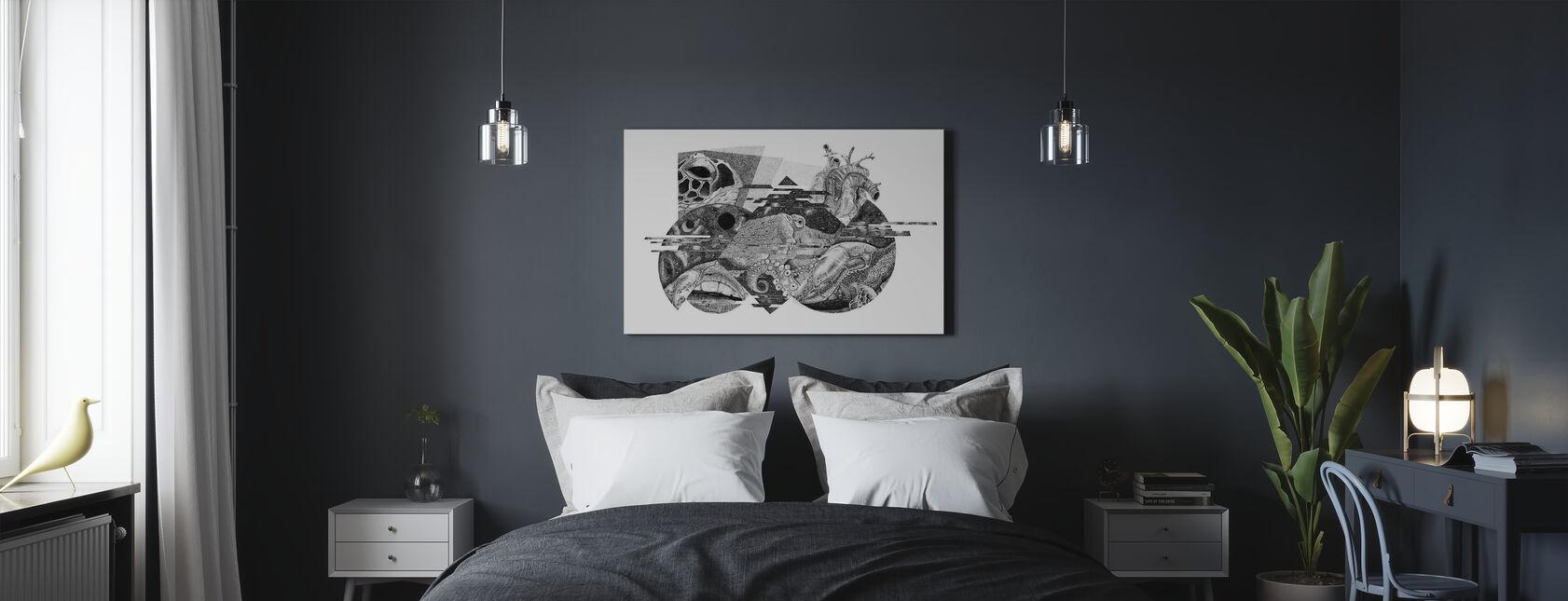 Interrupted Universe VI - Canvas print - Bedroom
