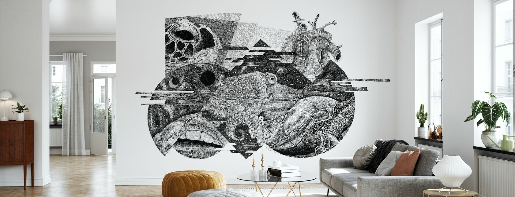 Interrupted Universe VI - Wallpaper - Living Room