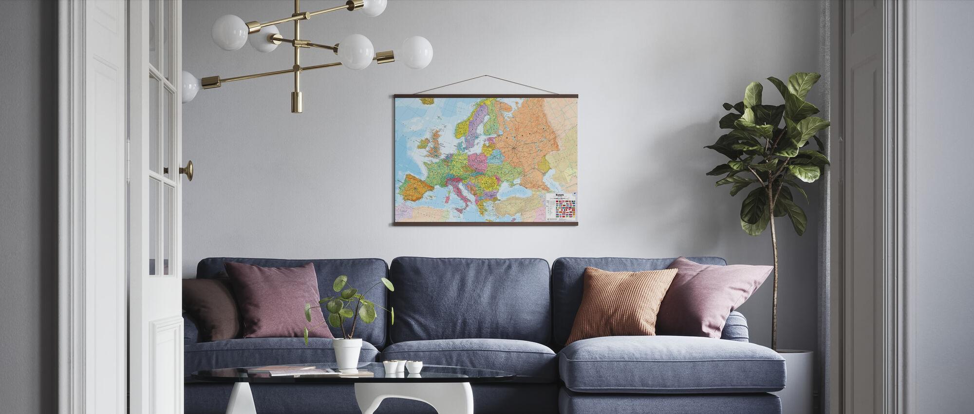 Politisches Europa Karte - Poster - Wohnzimmer