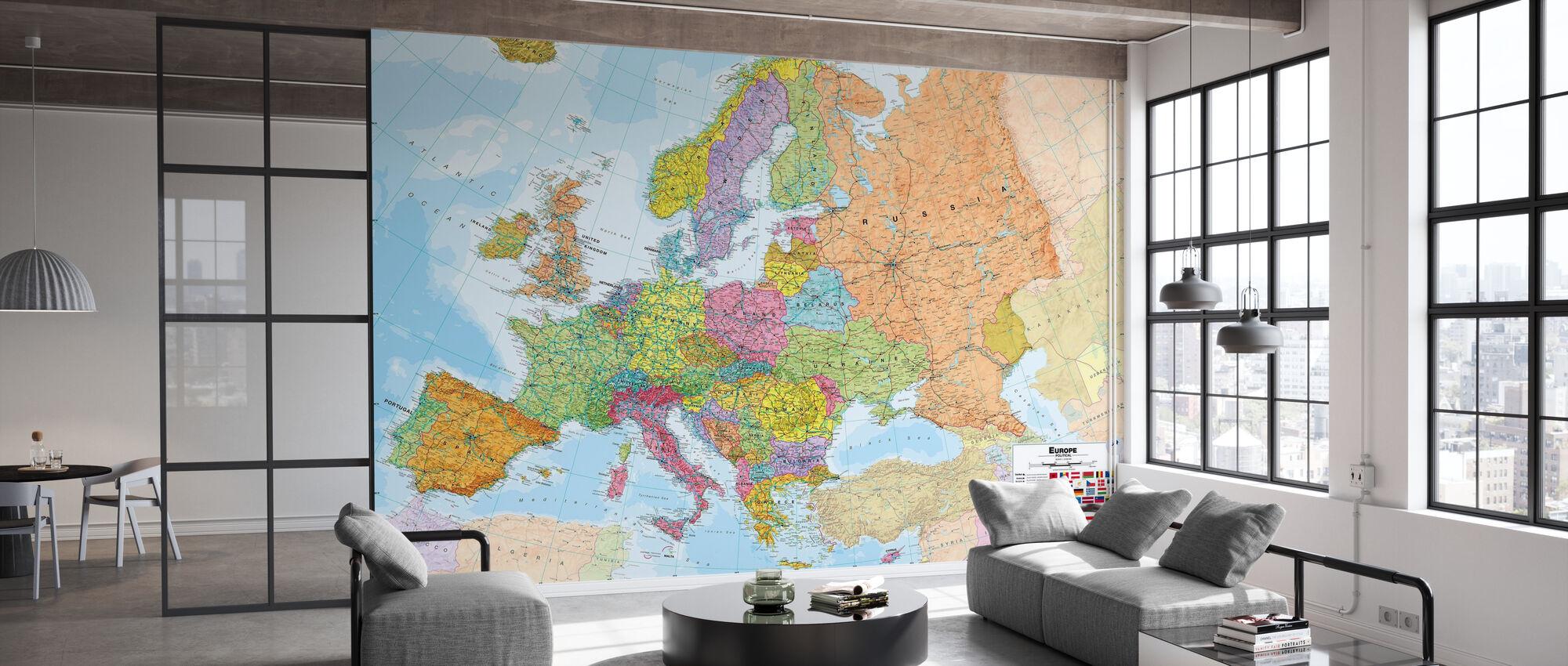 Political Europe Map - Wallpaper - Office