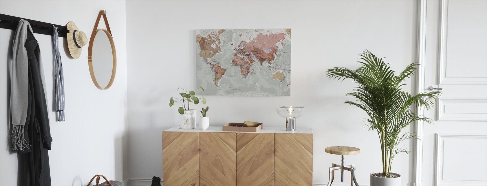 Mapa del mundo político ejecutivo - Lienzo - Corredor