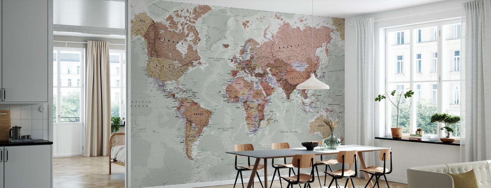 Politische Weltkarte - Tapete - Küchen