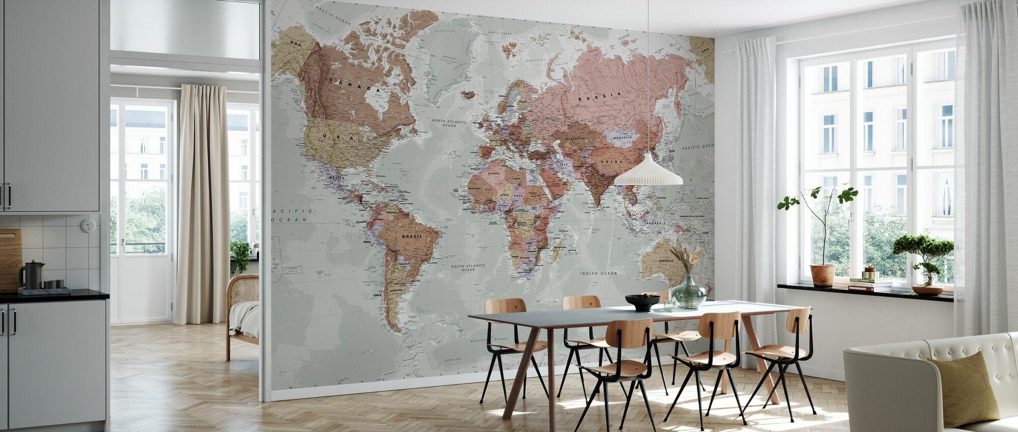 Executive Political World Map - Wallpaper - Kitchen