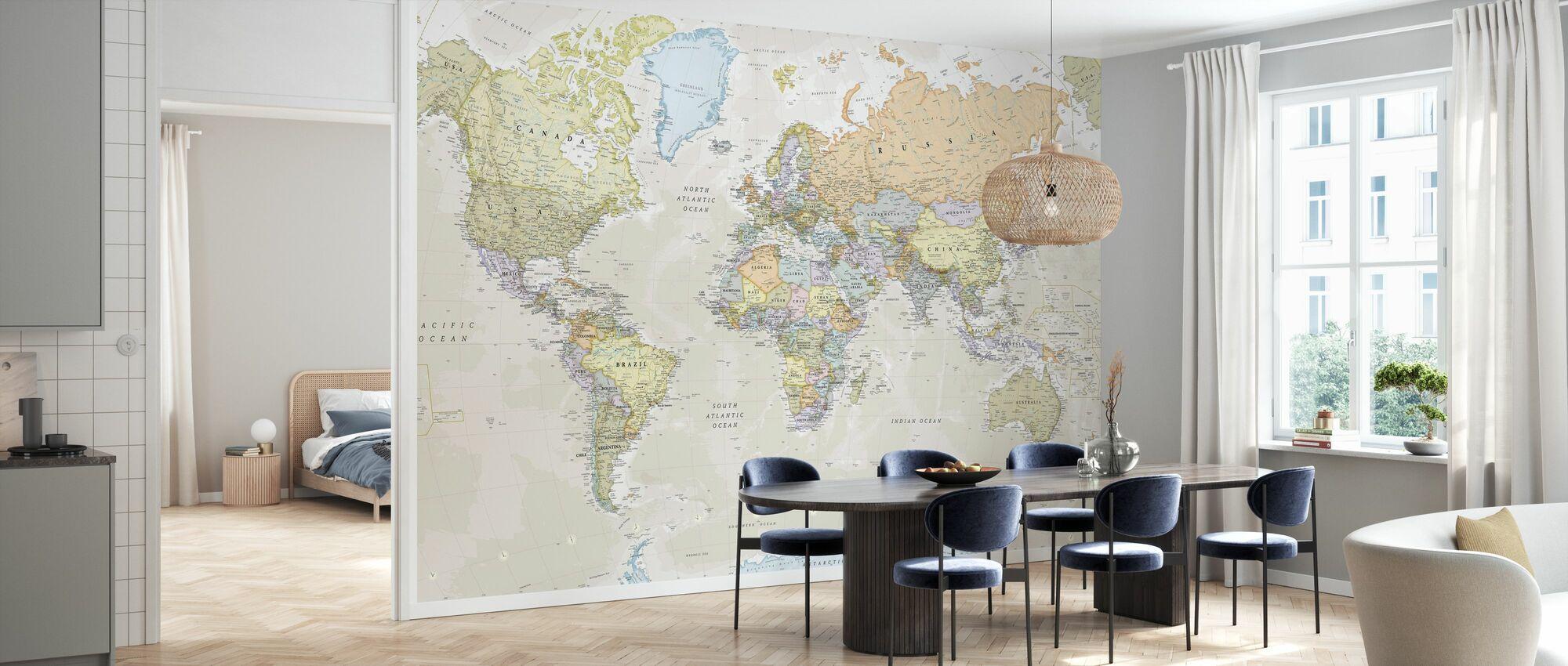 Classic World Map - Wallpaper - Kitchen