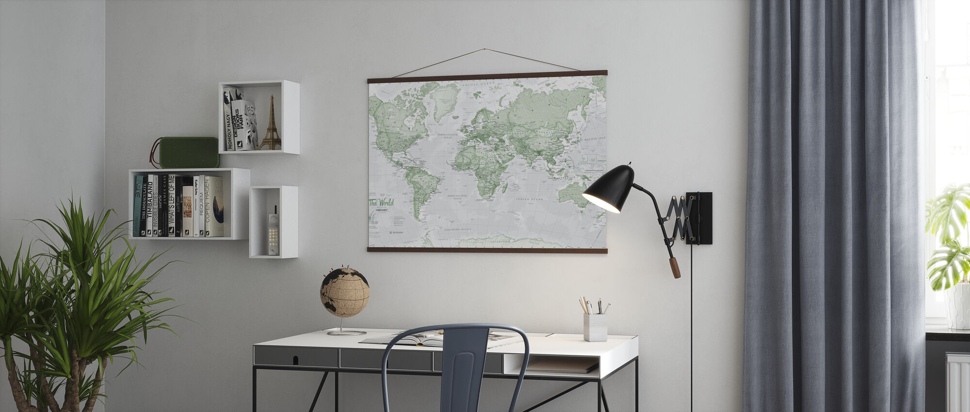 World Map Political Green - Poster - Office