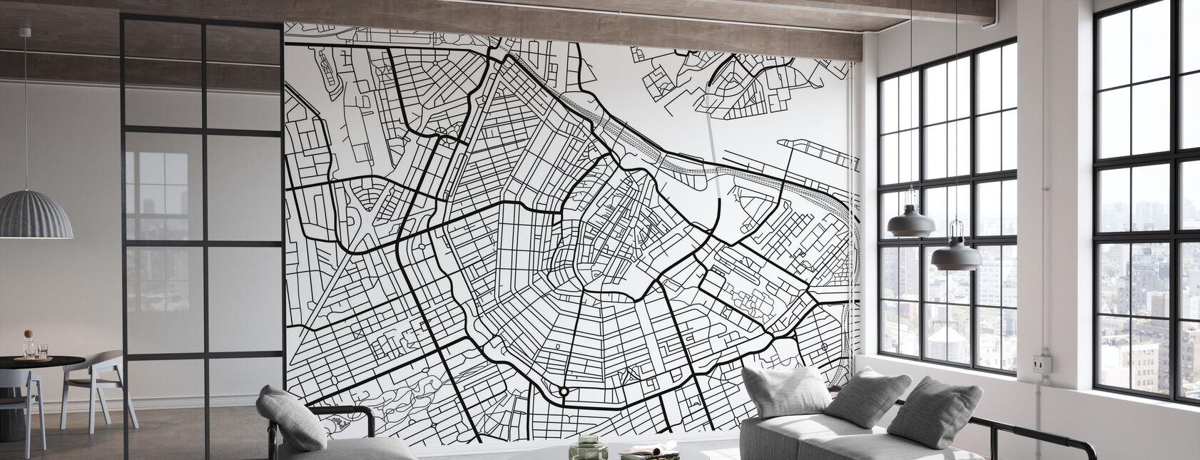 Amsterdam Map - Tapet - Kontor