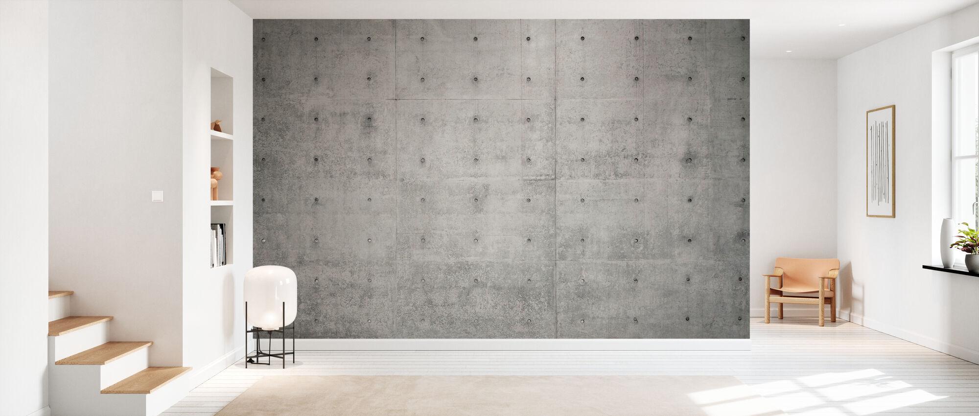 Betonnen muur - Behang - Gang