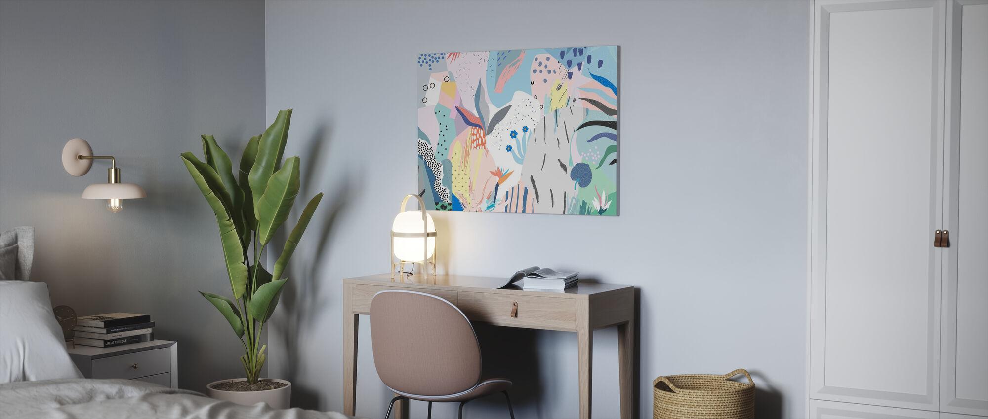 Blommig - Canvastavla - Kontor