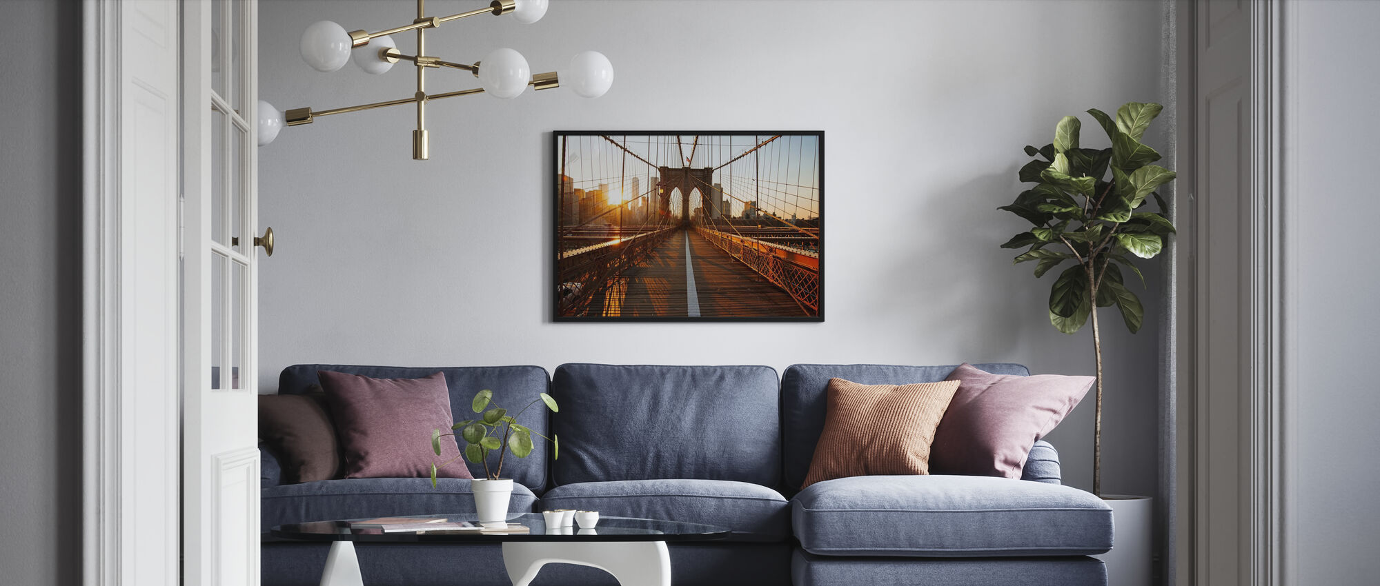 Brooklyn bro soloppgang - Plakat - Stue