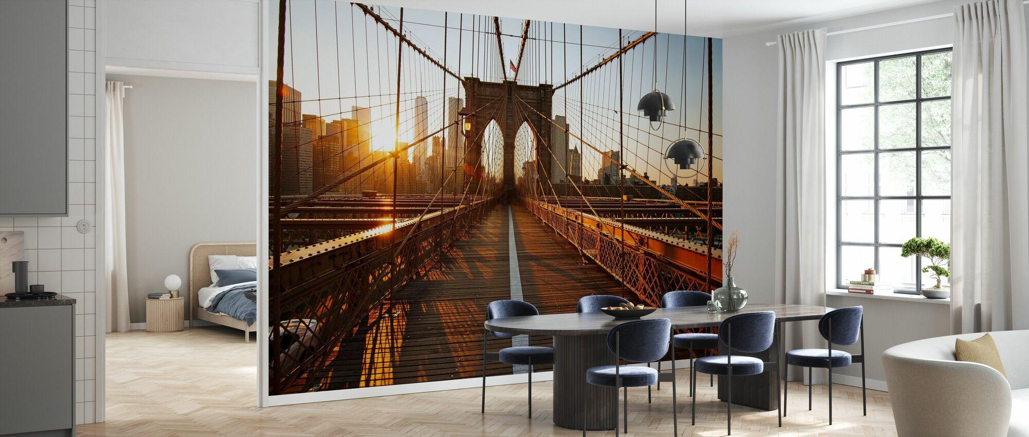 Brooklyn Bridge Sunrise - Wallpaper - Kitchen