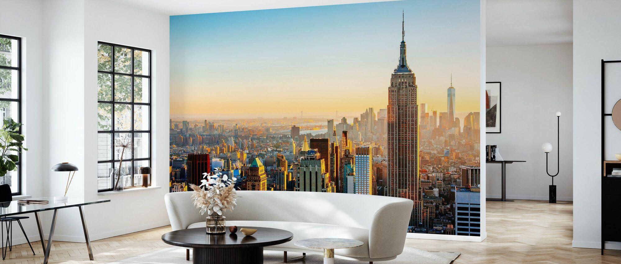 Manhattans skyline - Tapet - Vardagsrum