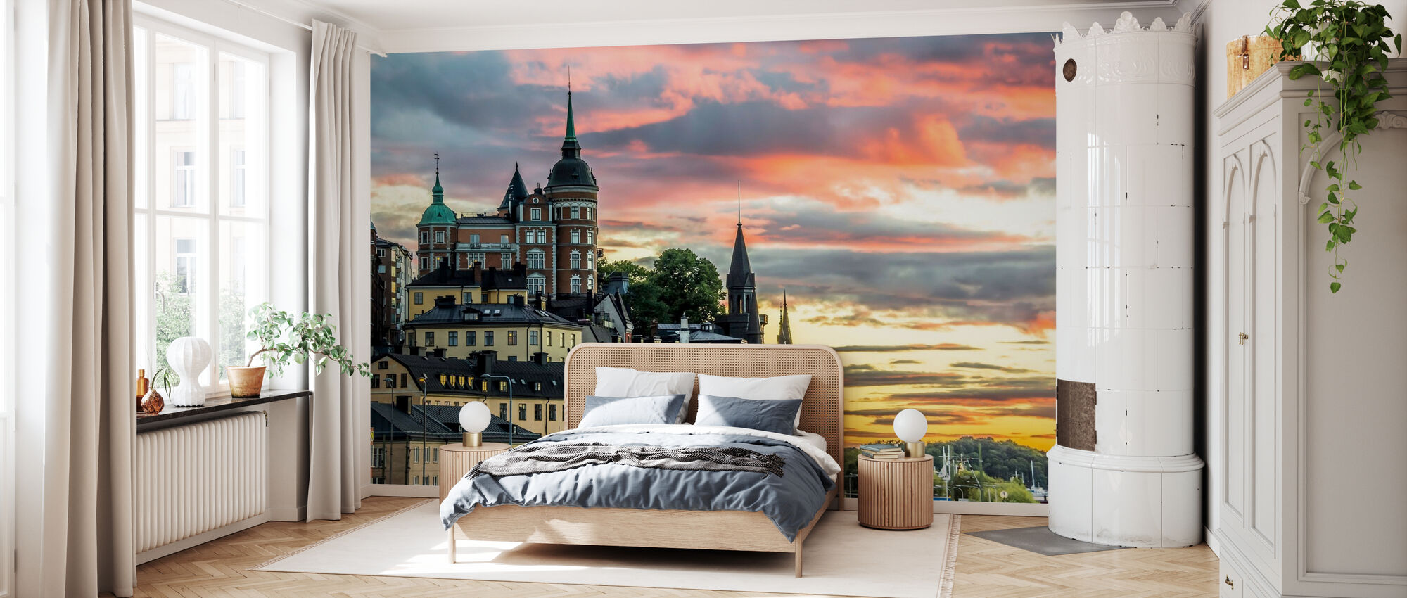 Stockholm Sunset - Wallpaper - Bedroom