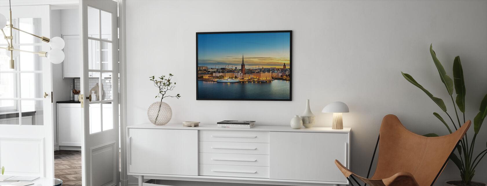 Sunset over Riddarholmen Stockholm - Framed print - Living Room