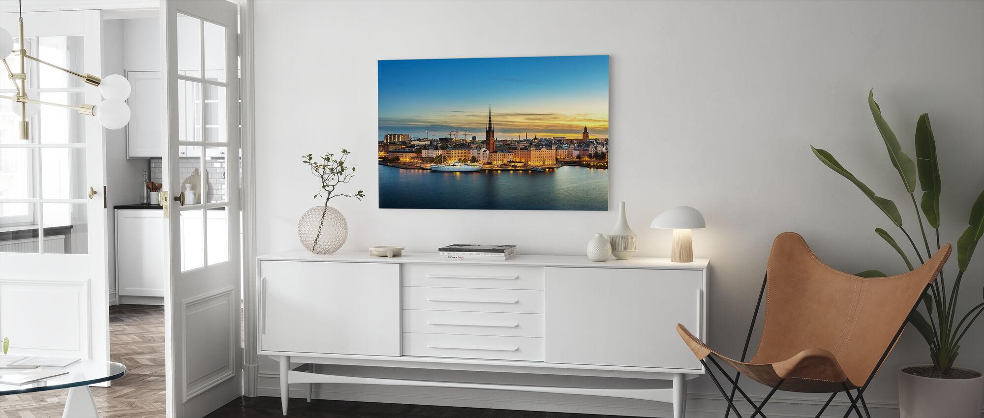 Solnedgång över Riddarholmen Stockholm - Canvastavla - Vardagsrum