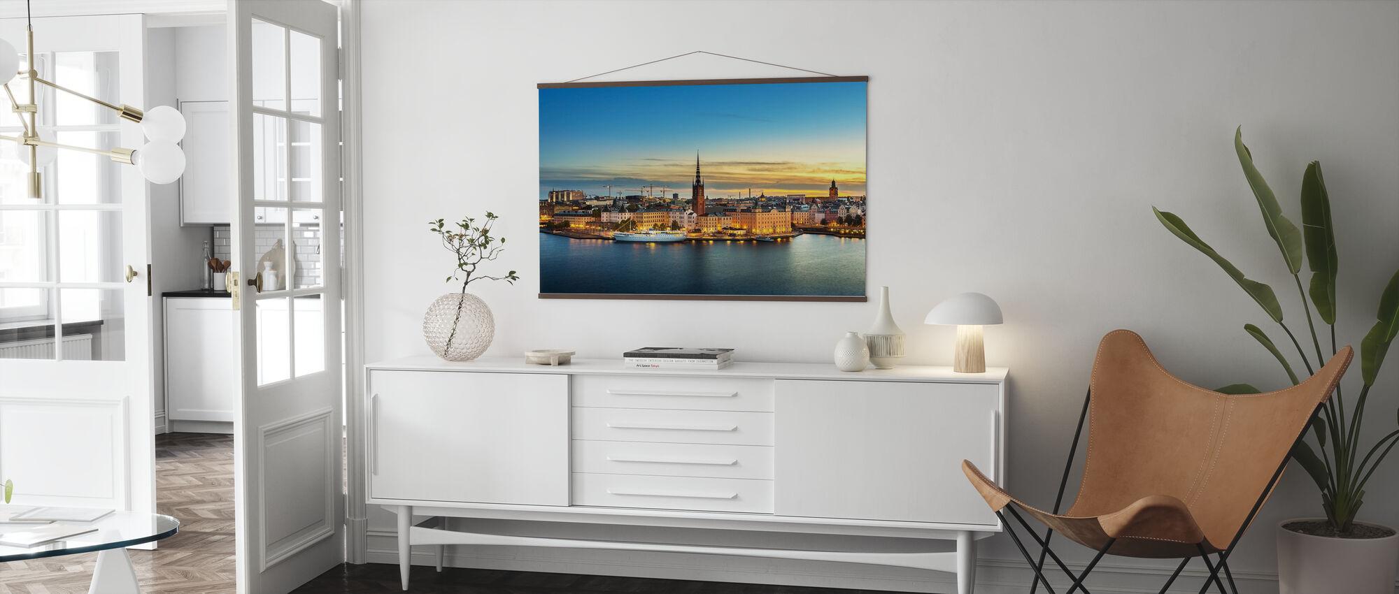 Sunset over Riddarholmen Stockholm - Poster - Living Room