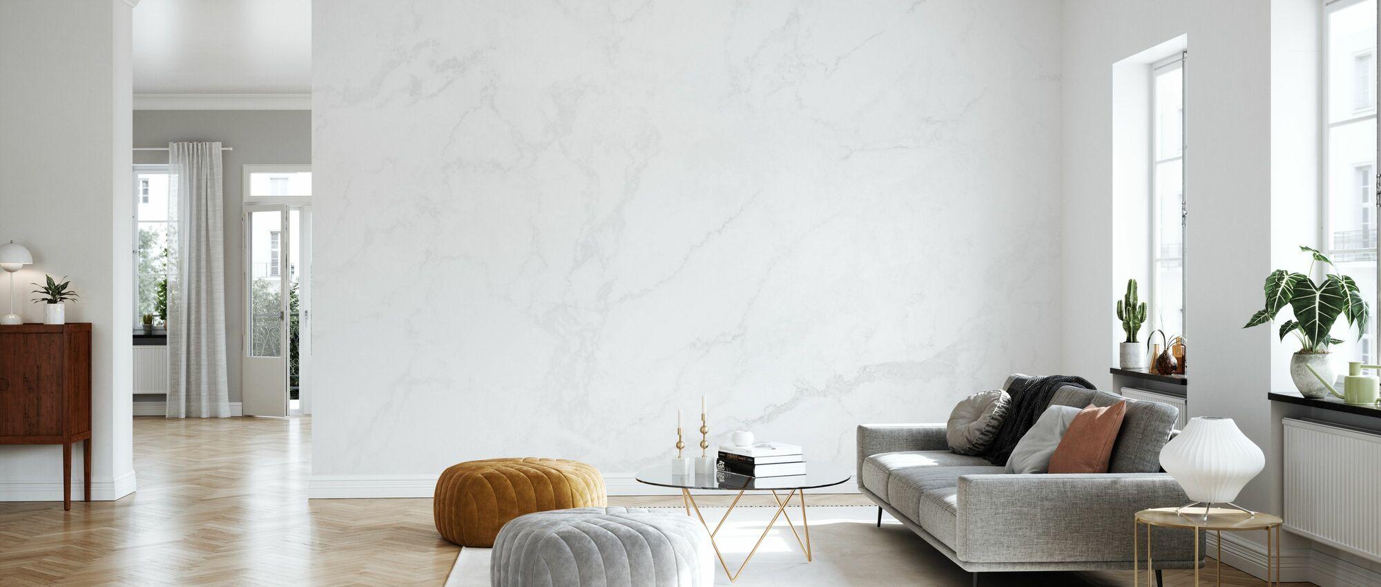 White Marble - Wallpaper - Living Room
