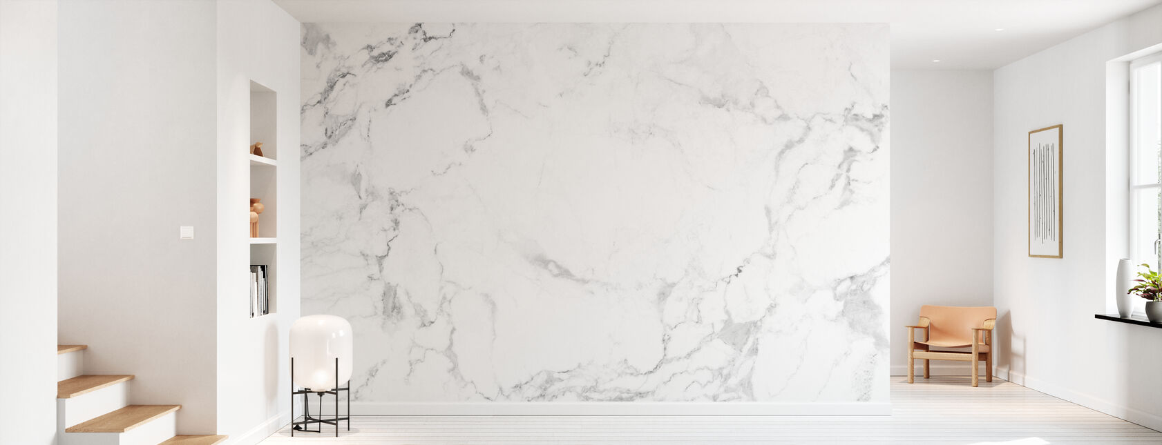 Biały marmur - Tapeta - Przedpokój