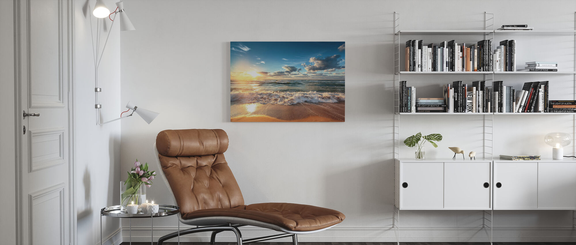 Cloudscape over the Sea - Canvas print - Living Room