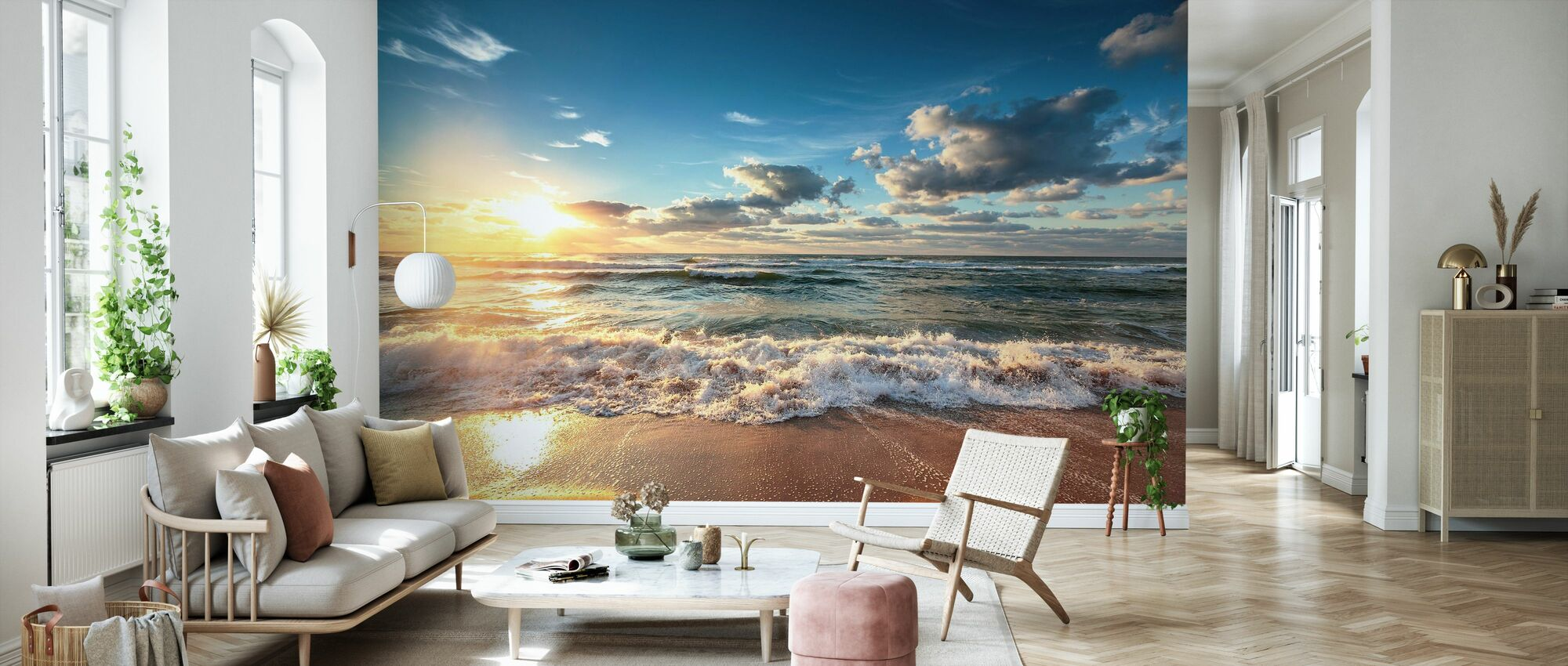 Cloudscape over the Sea - Wallpaper - Living Room