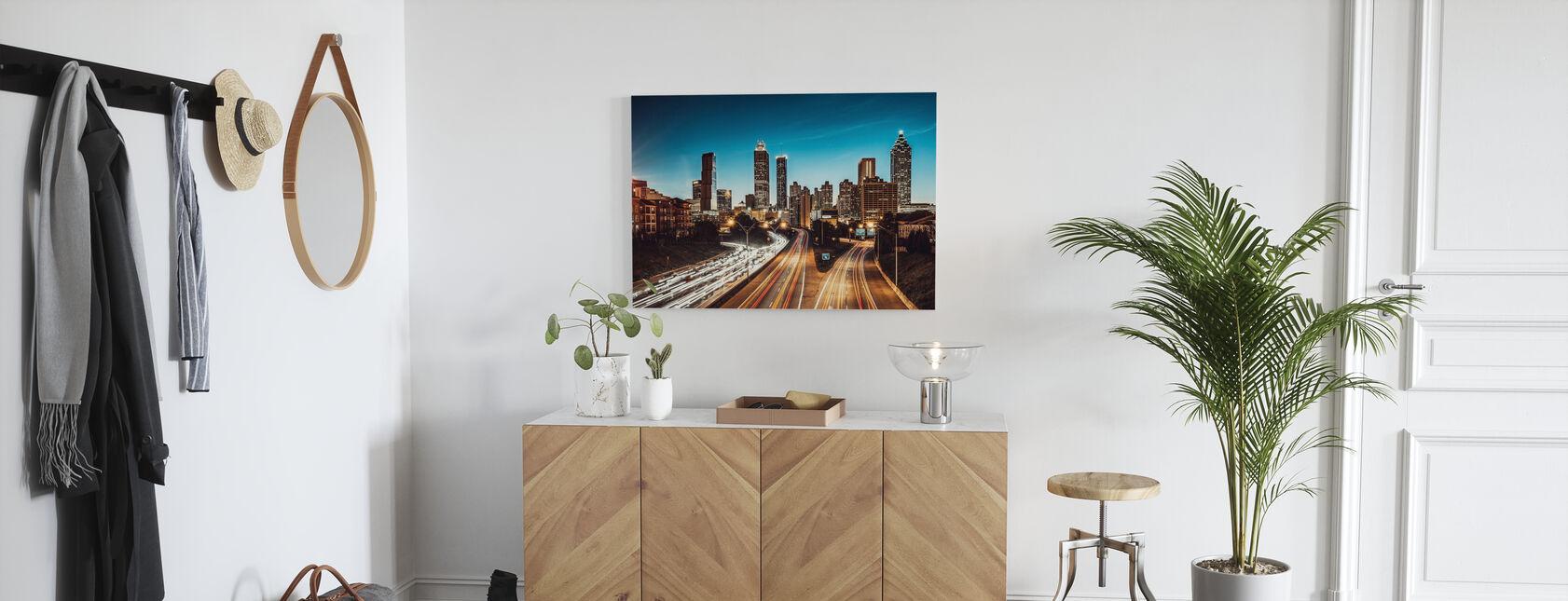 Atlanta Skyline at Dusk - Canvas print - Hallway