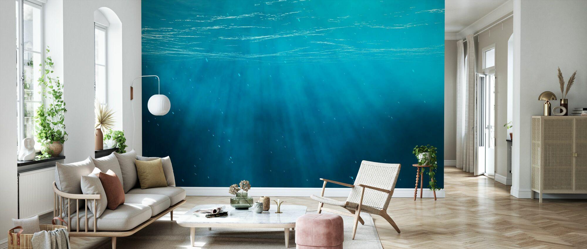 Unterwasser - Tapete - Wohnzimmer