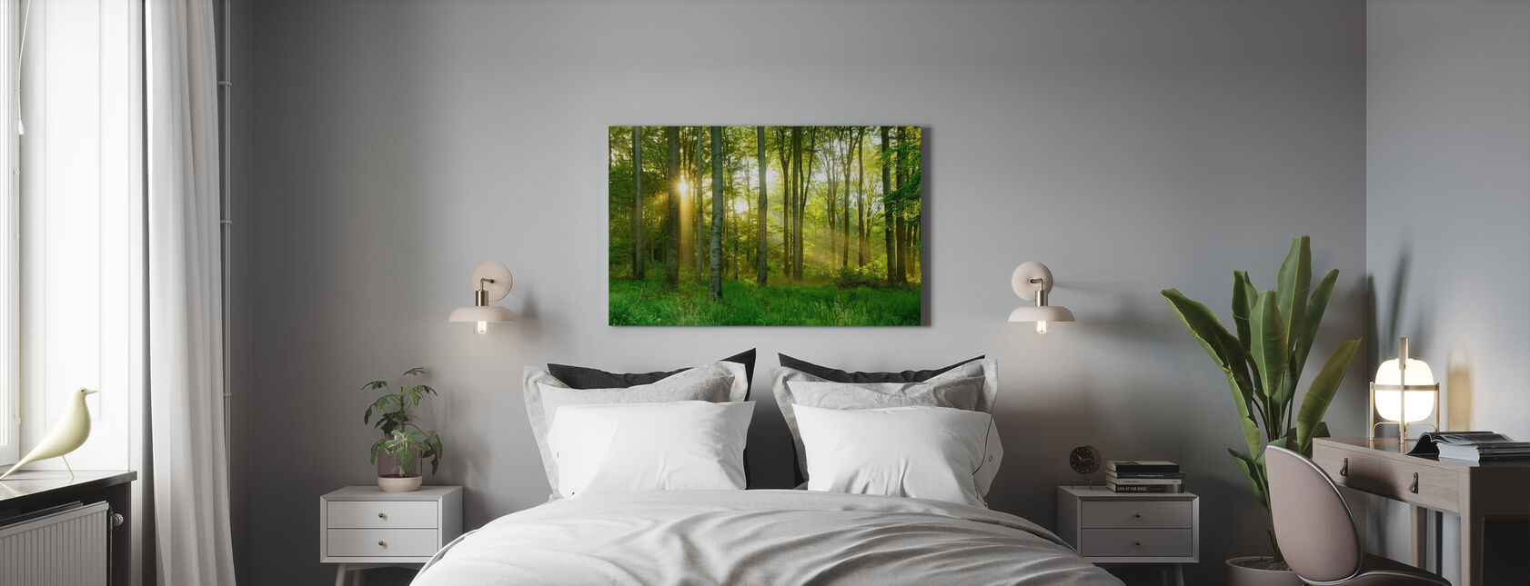 Beech Tree Forest - Canvas print - Bedroom