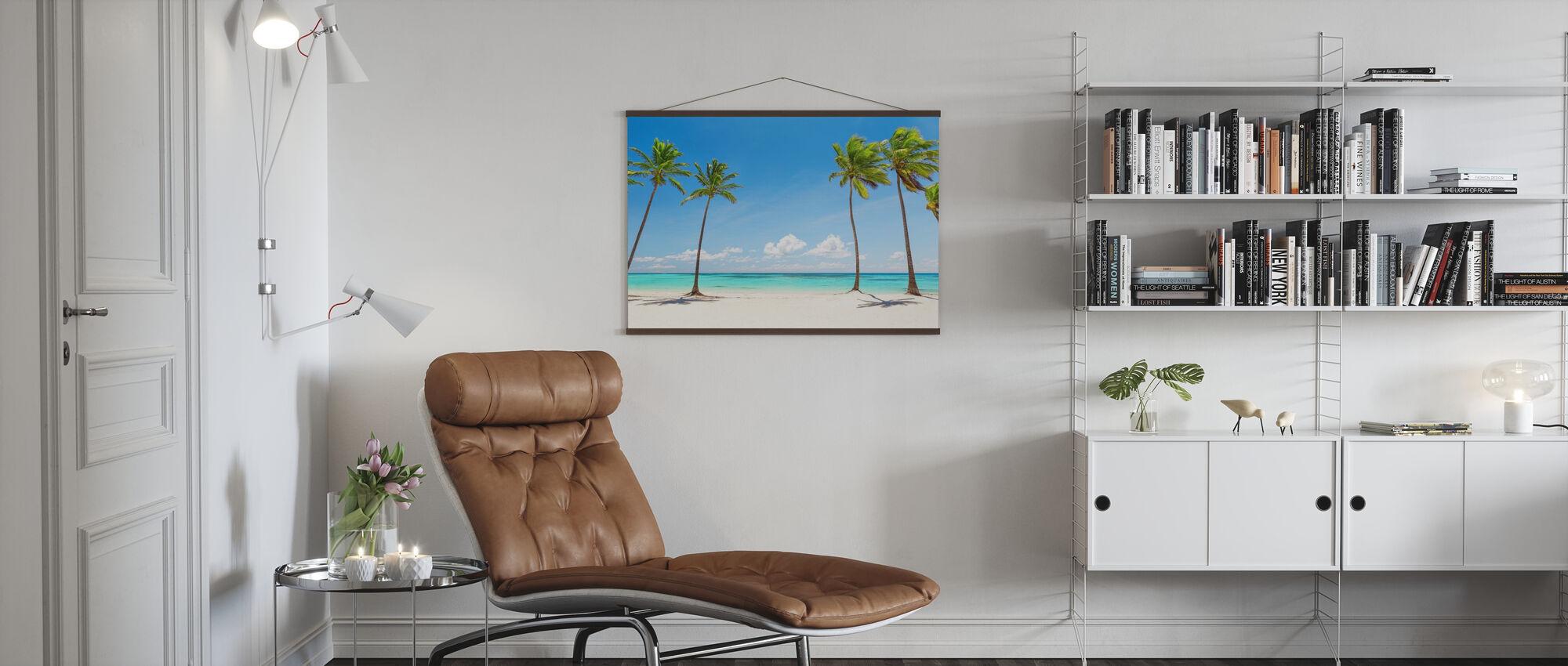 Palmen am weißen Strand - Poster - Wohnzimmer