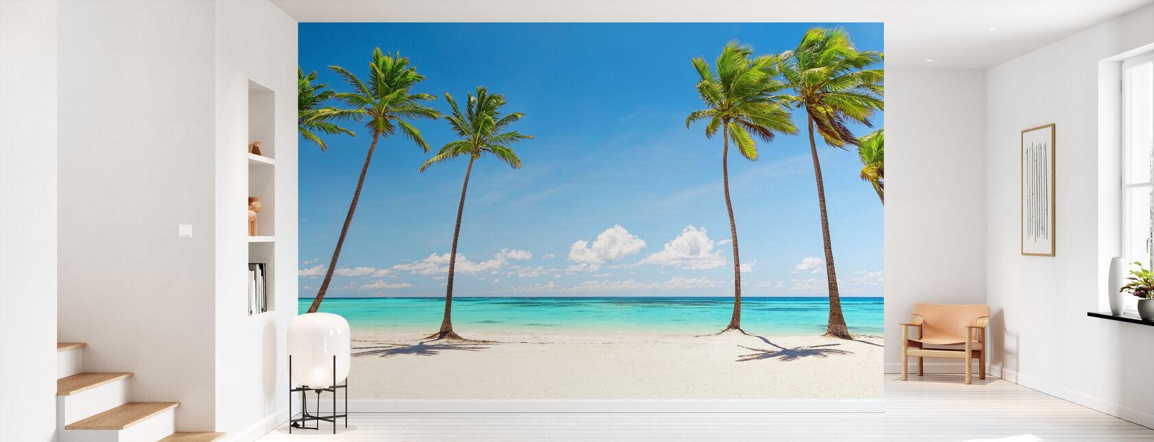 Palm Trees on white Beach - Wallpaper - Hallway