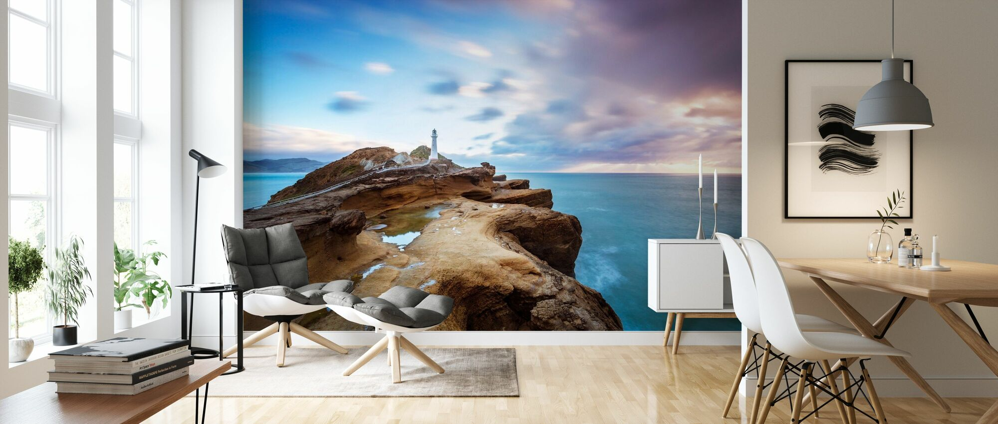Lighthouse at Sunrise - Wallpaper - Living Room