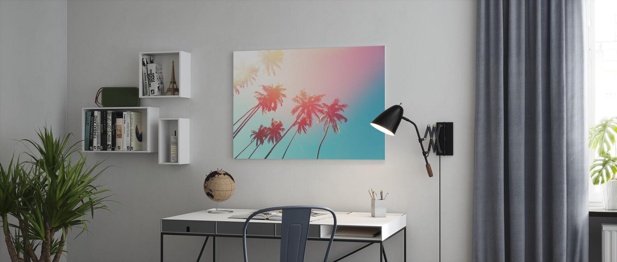 Kokosträd - Canvastavla - Kontor